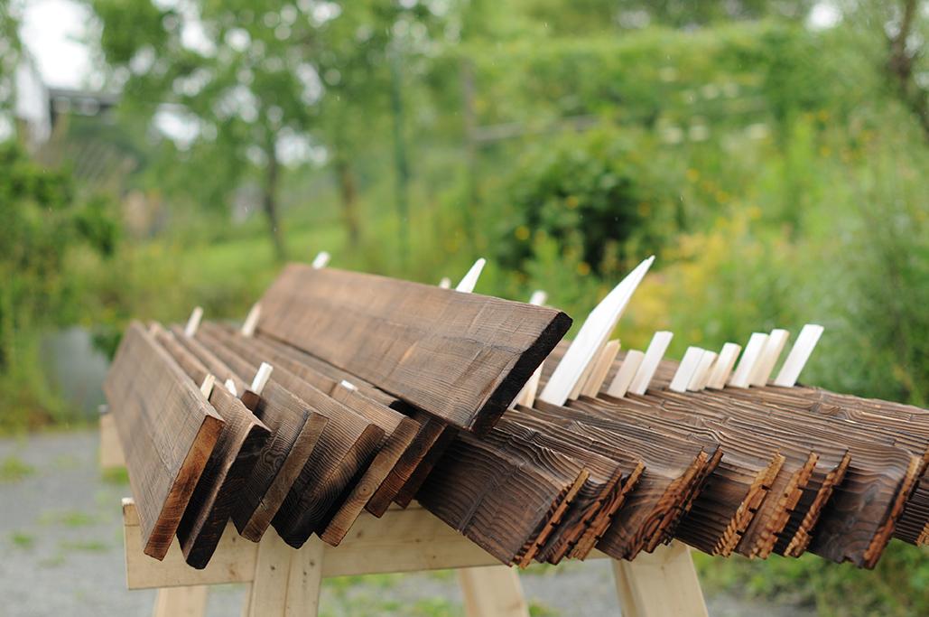 bois extérieur yakigusi